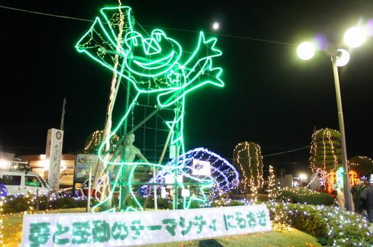 イルミネーション 韮崎駅 外観