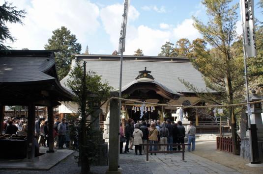 初詣 一宮浅間神社 本堂