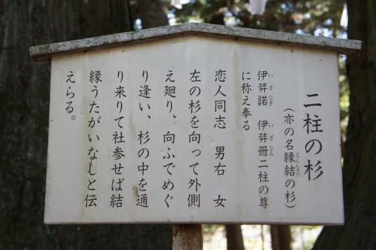初詣 河口浅間神社 立て札