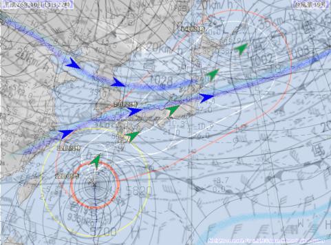 20141011台風進路予想