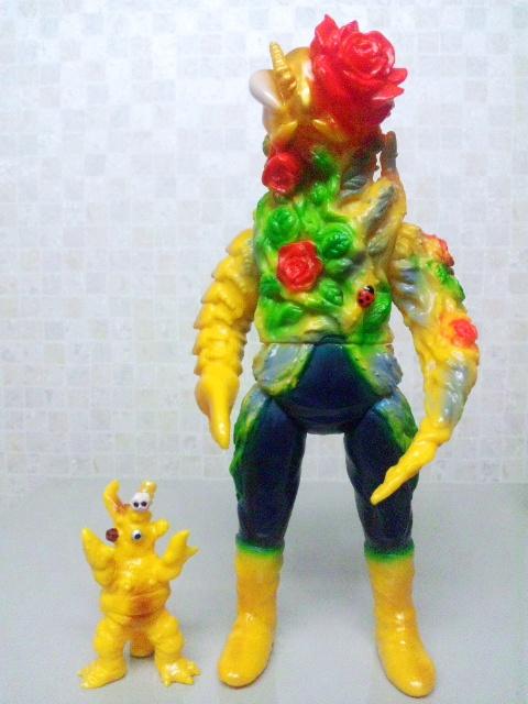 黄色ガチョン&バラ