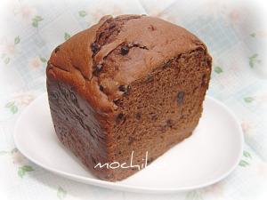 20100923チョコとレモンピールとココアのパン早焼き