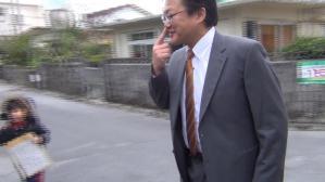 矢内党首ポスター貼り沖縄20130208_009