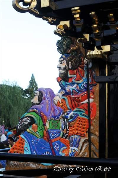 中野一番だんじり(屋台・楽車)の隅障子 西条祭り2010 伊曽乃神社祭礼 御殿前(西条高校前) 愛媛県西条市明屋敷 2010年10月16日