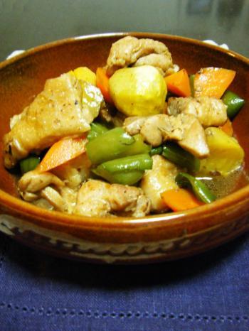 鶏肉と栗の中華煮