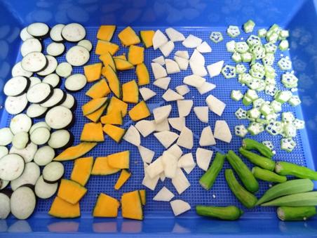 プチミニで野菜を