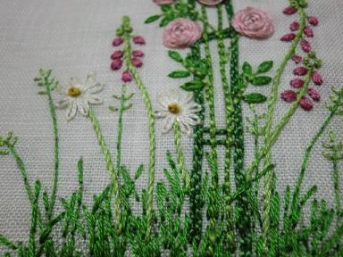 薔薇の刺繍5