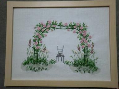 薔薇のアーチのフレーム1