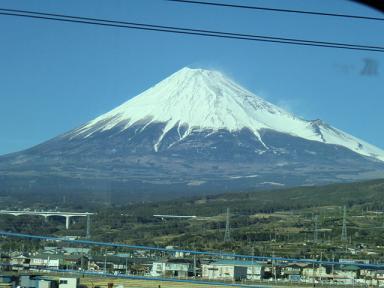 新幹線からの富士山1