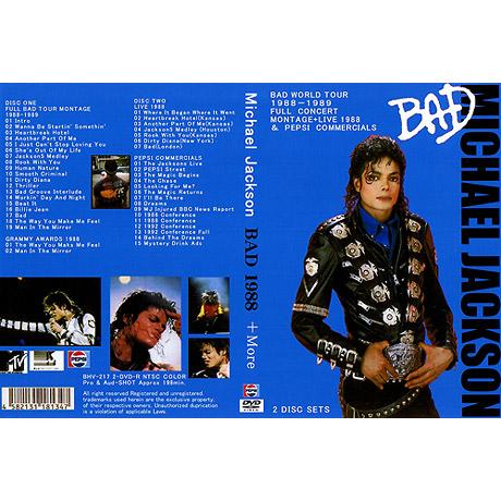 DVD BAD WORLD TOUR 1988-1989