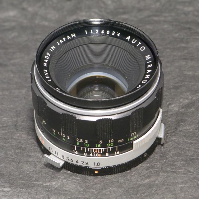 MIRANDA AUTO SENSOREX EE レンズ50mm1.8