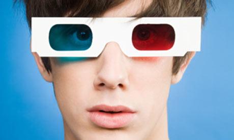 3Dメガネ赤・青
