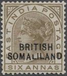 英領ソマリランド加刷