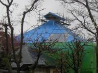 H240414法蔵寺屋根葺き替え工事の状況