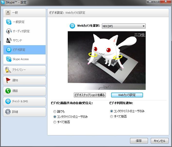 Skypeのビデオチャットで拡張現実を使ってみた。 001
