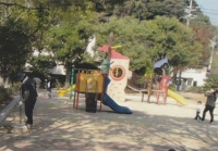 児童公園清掃