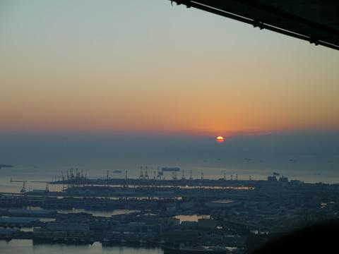 2014年横浜ランドマークタワーの初日の出