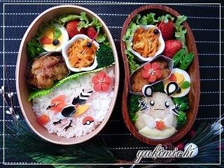 ヒノヤコマとデデンネのお弁当♪