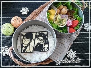 ルパン三世VS名探偵コナンのお弁当☆