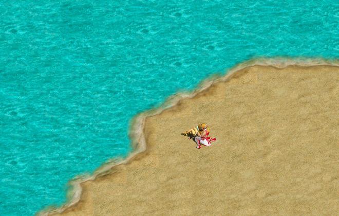 浜辺でデート3