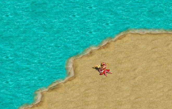 浜辺でデート1