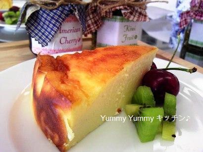 神戸市場料理教室濃厚チーズケーキ♪ブログ用