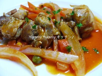 チキンの野菜ジュース煮込み☆