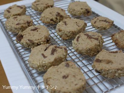 バリバリチョコと胡桃パウダーのアイスボックスクッキー。