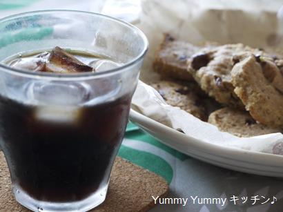 バリバリチョコと胡桃パウダーのアイスボックスクッキー!