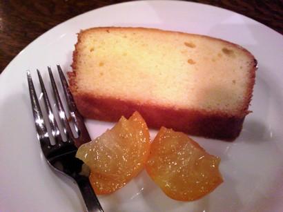 誕生日ディナー 金柑のパウンドケーキ♪