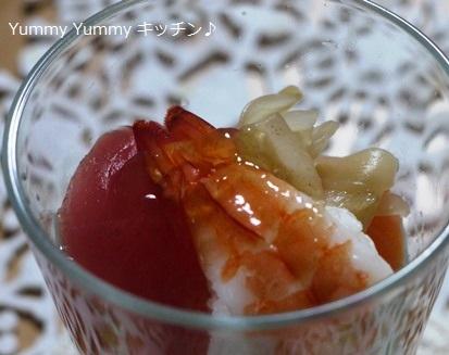 スーパーのお寿司deカップ手毬寿司♪