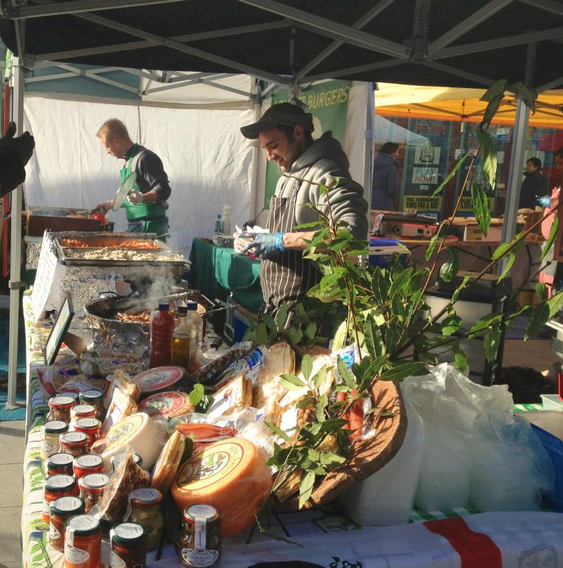 ゆりあそのロンドン留学日記 ロンドングルメ~Brunswick Center Food Market~