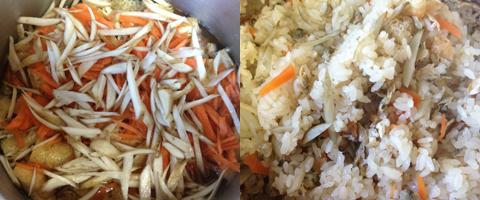 しじみ生姜の炊き込みご飯