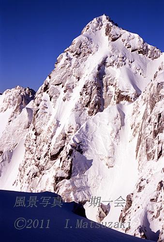 旭光の宝剣岳