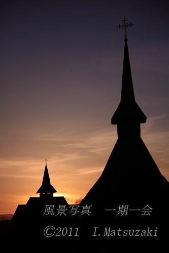世界遺産  夕暮れのバルサナ教会