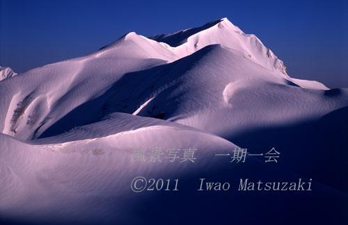 朝の奥大日岳