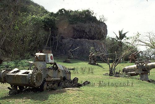 トーチカ前の砲台