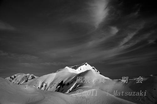立山 朝の大日岳