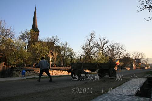 木造教会のある村 その3 馬車を操る