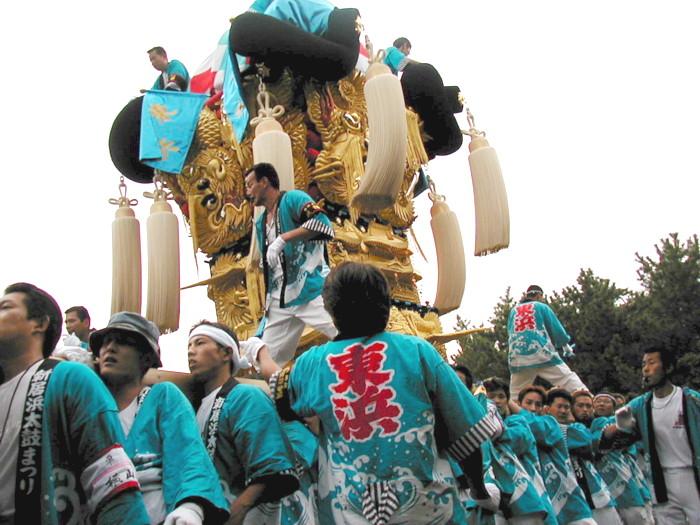 八幡神社の東浜太鼓台