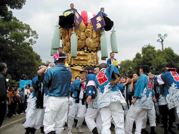 八幡神社の新田太鼓台