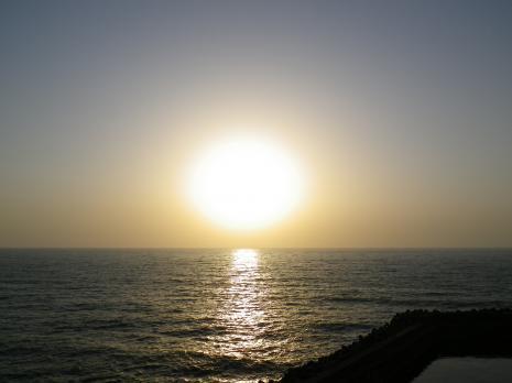 柏崎ホワイトベースの夕日