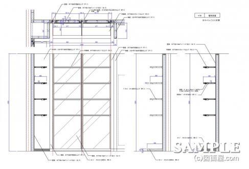 10壁面棚P-6(STAGE)詳細図1