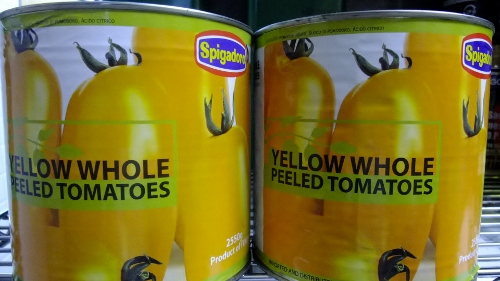黄色いトマトソース