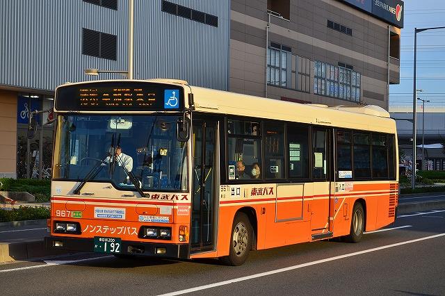 DPD自動再生中 東武バスセントラル 9671