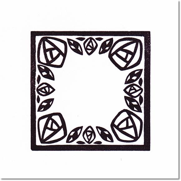 テラピィの乙女はんこ flower stamp~切り絵風バラ~の巻