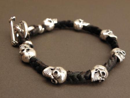 gaboratory,gabor,silver,bracelet,skull,leather,ガボラトリー,ガボール,シルバー,ブレスレット,スカル,レザー