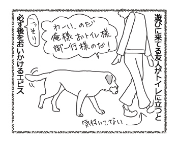 羊の国のラブラドール絵日記シニア!!「トイレのエビス様」1