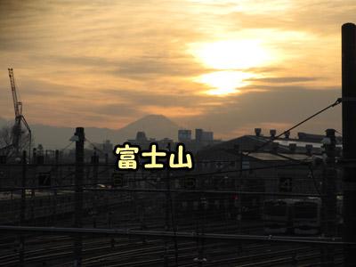 跨線橋から見える富士山
