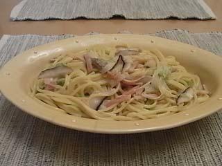 椎茸・ベーコンスパ1